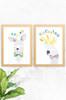 'Skippy & Cockatoo' Wildlife Prints (2 Pack)  |  Kids Wall Art