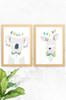 'Koala & Skippy' Wildlife Prints (2 Pack)   |  Kids Wall Art