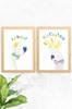 'Budgie & Cockatoo' Wildlife Prints (2 Pack)  |  Kids Wall Art