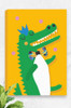 'Crocodile' Canvas   |  Kids Wall Art