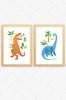 'T-Rex & Brachiosaurus' Prints (2 Pack)  |  Kids Wall Art
