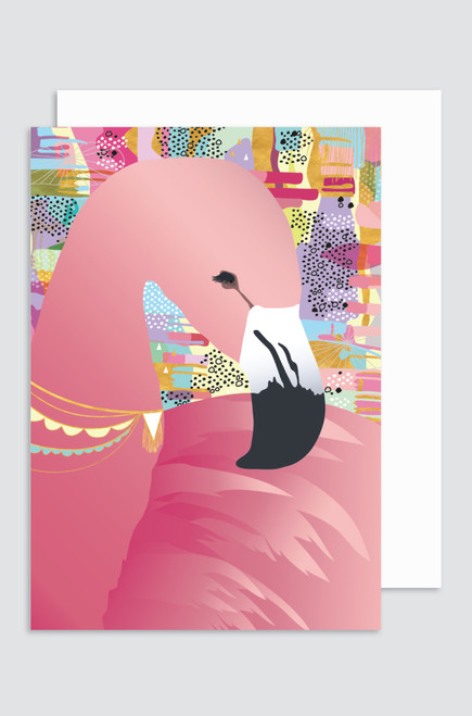 (5 PACK)  'Sweet Dreams - Flamingo' Greeting Card