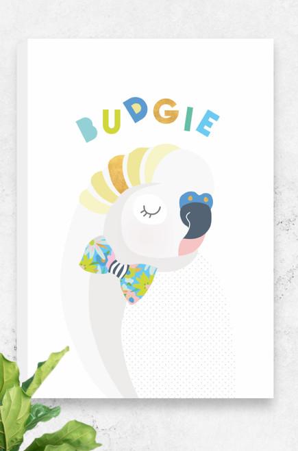 'Budgie' Canvas    |  Kids Wall Art