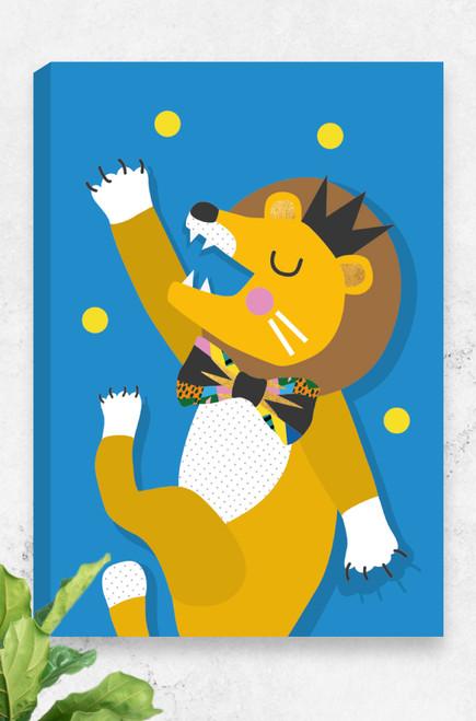 'Lion' Canvas   |  Kids Wall Art