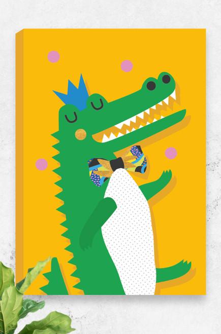 'Crocodile' Canvas   |  Kids Wall Art