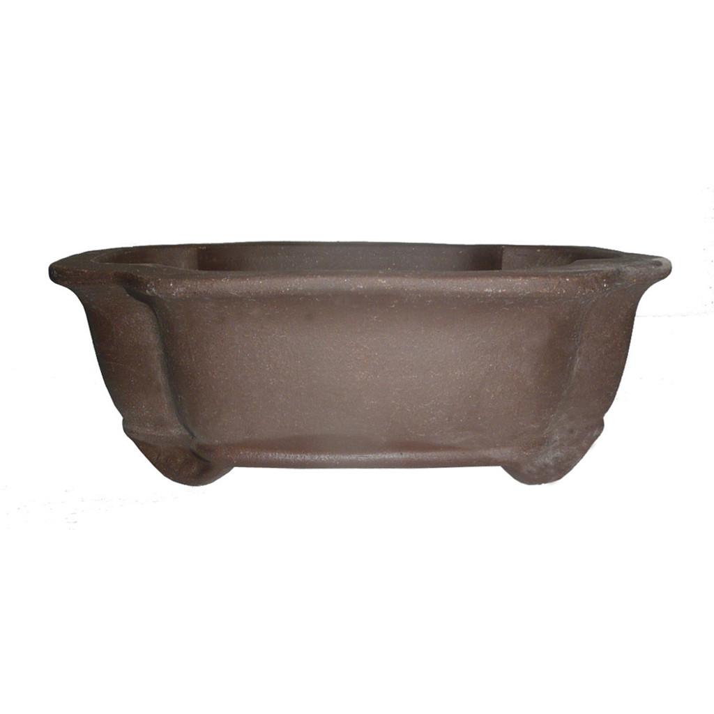 Unglazed Lotus Bonsai Pot