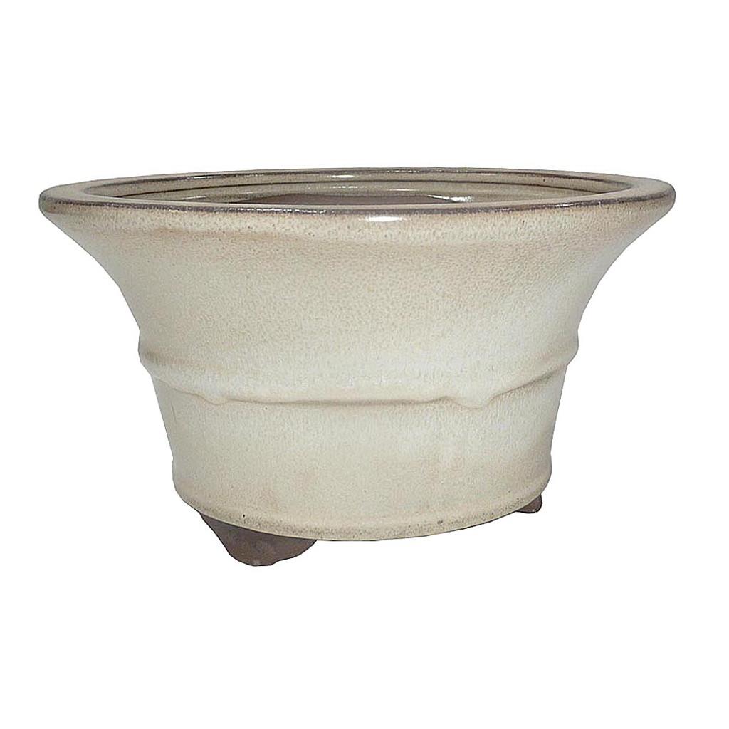 Medium Beige Round Pot - CGR6-7BE