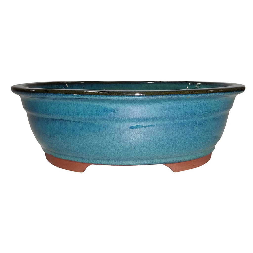 "10"" Glazed Oval Container - CGO38-10DMG"