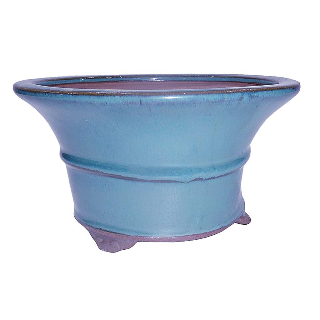 Medium Teal Round Pot - CGR6-7DMG