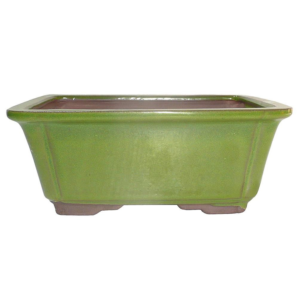 Medium Serpent Green Rectangle Pot - CGG58-8STG
