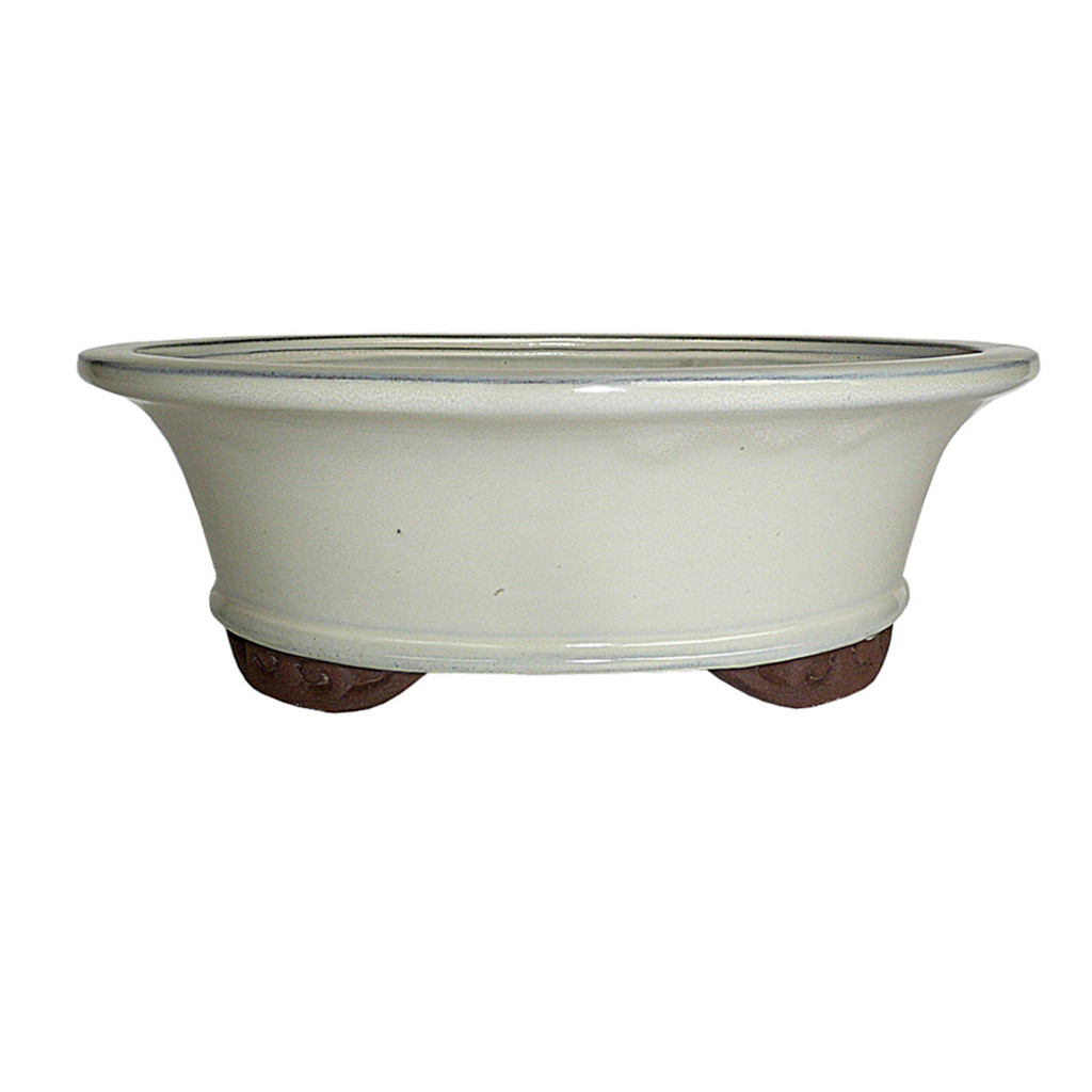 Large New Cream Oval Pot - CGO9-10NCM