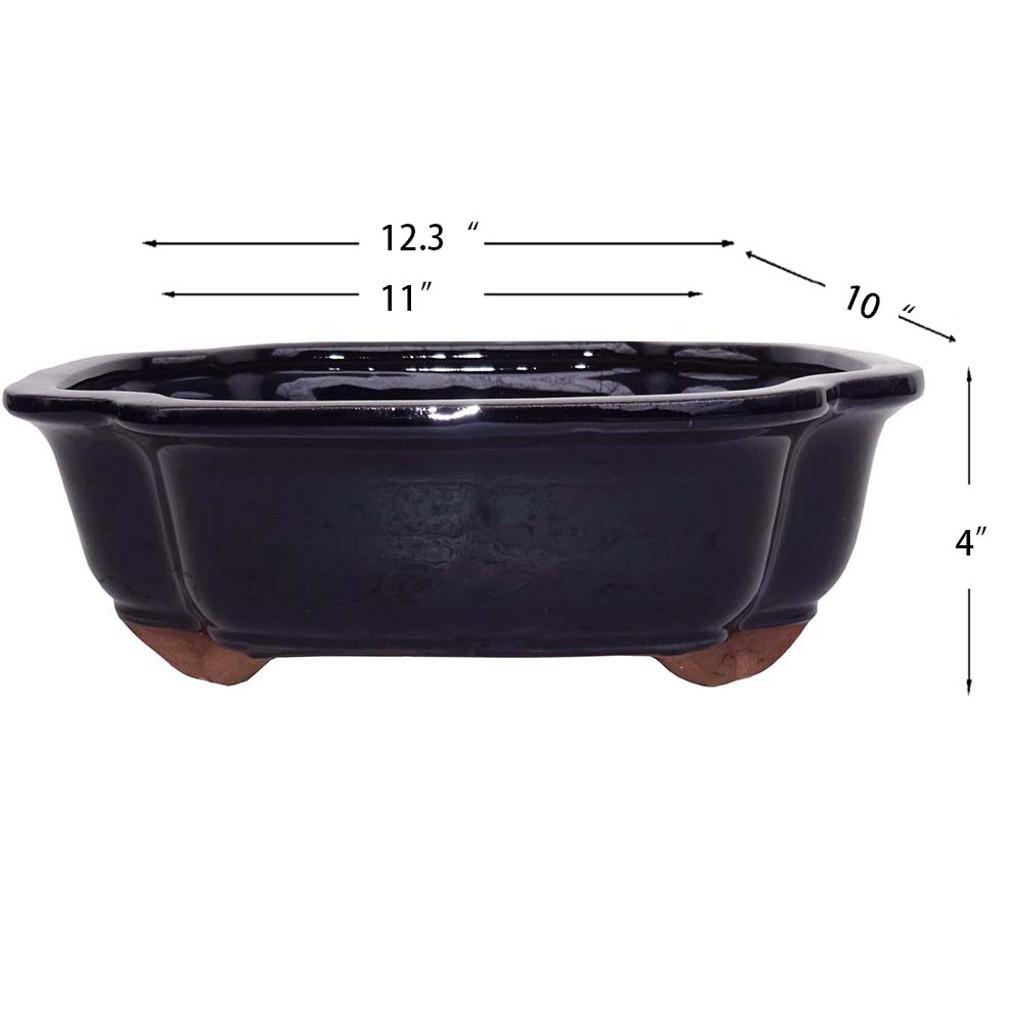 X-Large Dark Navy Lotus Pot - CGI4-12DN
