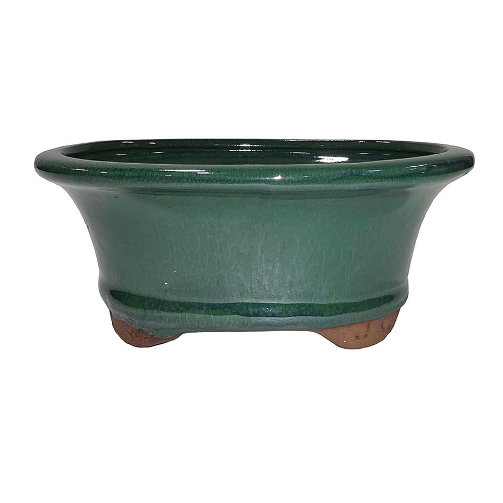 6 Glazed Ceramic Bonsai Pot Forest Green Brussel S Bonsai