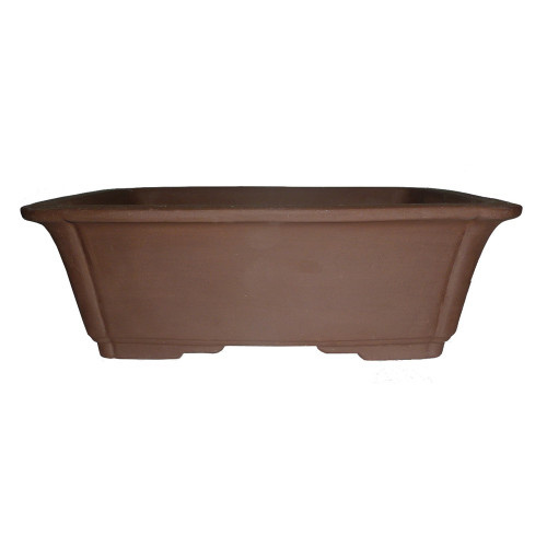 Unglazed Rectangular Bonsai Pot