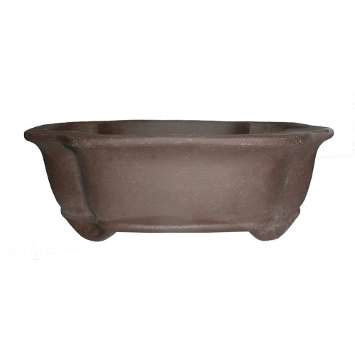 Unglazed Lotus Bonsai Pot