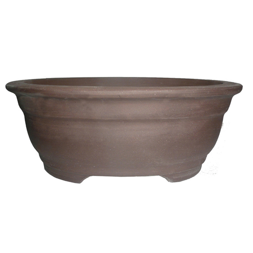 Unglazed Oval Bonsai Pot