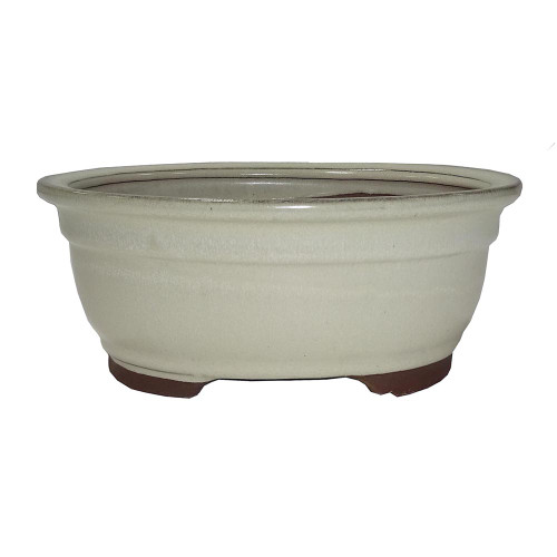 Medium Beige Oval Pot - CGO38-8BE
