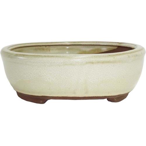 Medium Beige Oval Pot - CGO3-8BE