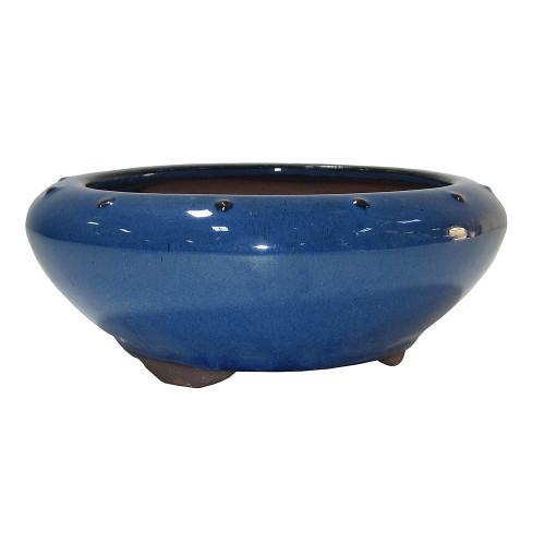 Small Blue Round Pot - CGR4-6BL