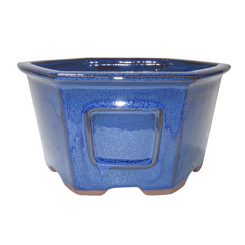 Medium Blue Hex Pot - CGH23-7BL