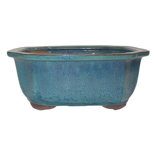 Medium Teal Lotus Pot - CGI31-8DMG