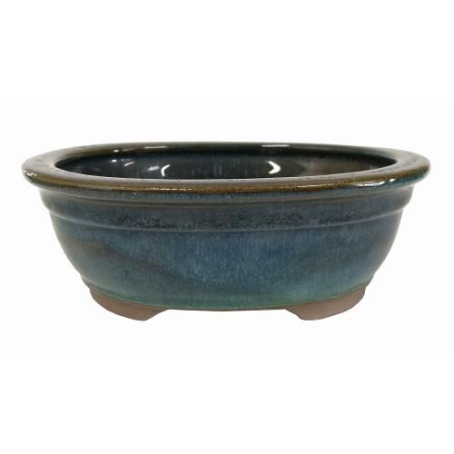 Small Teal Oval Pot - CGO38-6DMG