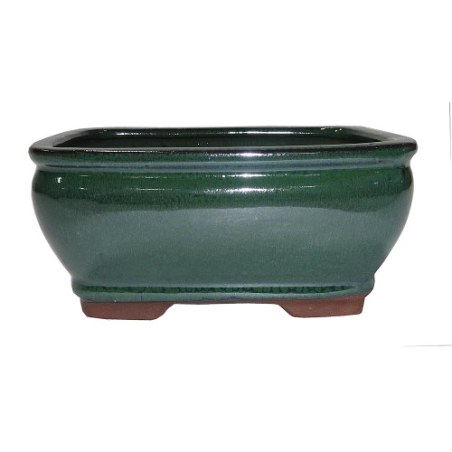 Small Forest Green Rectangle Pot - CGG92-6FG