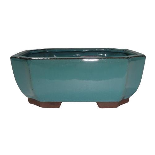 Medium Green Rectangle Indented Corner Pot - CGG117-6GN