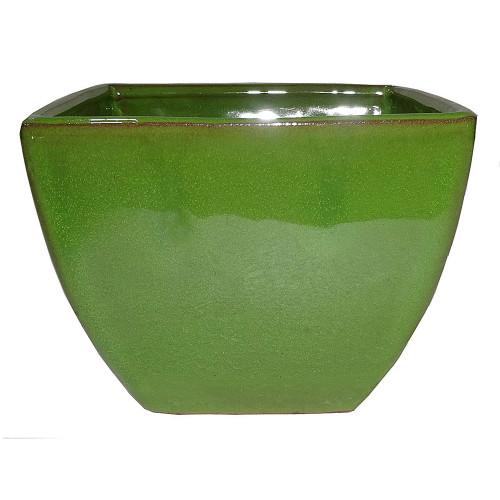 Small Serpent Green Square Pot - CGS35-4.5STG