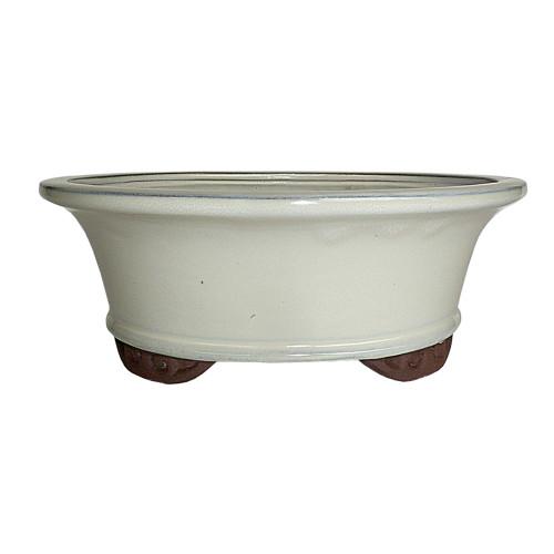 Small New Cream Oval Pot - CGO9-6NCM