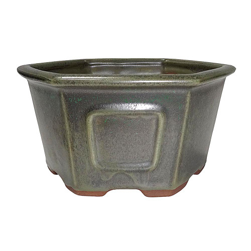 Medium Sesame Green Hex Pot - CGH23-7SGN