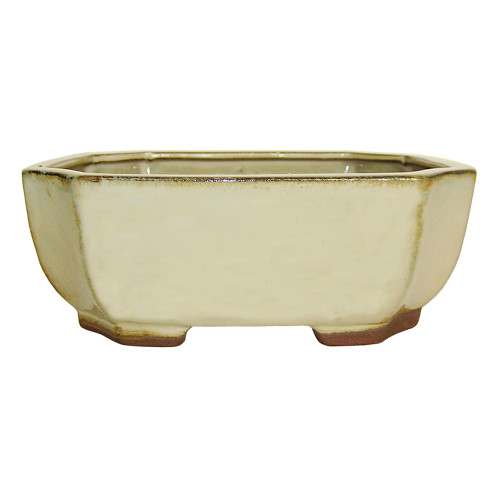 Medium Ivory Rectangle Indented Corner Pot - CGG117-6HZY