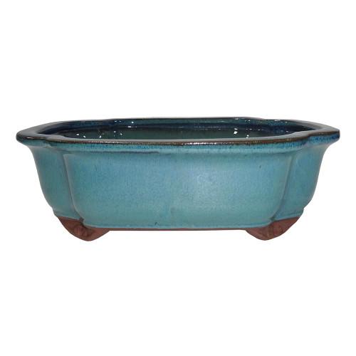Large Teal Lotus Pot - CGI4-10DMG