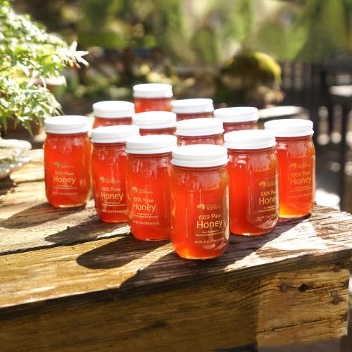 Pure Honey - 12 Pint Jars - SPHONEY12