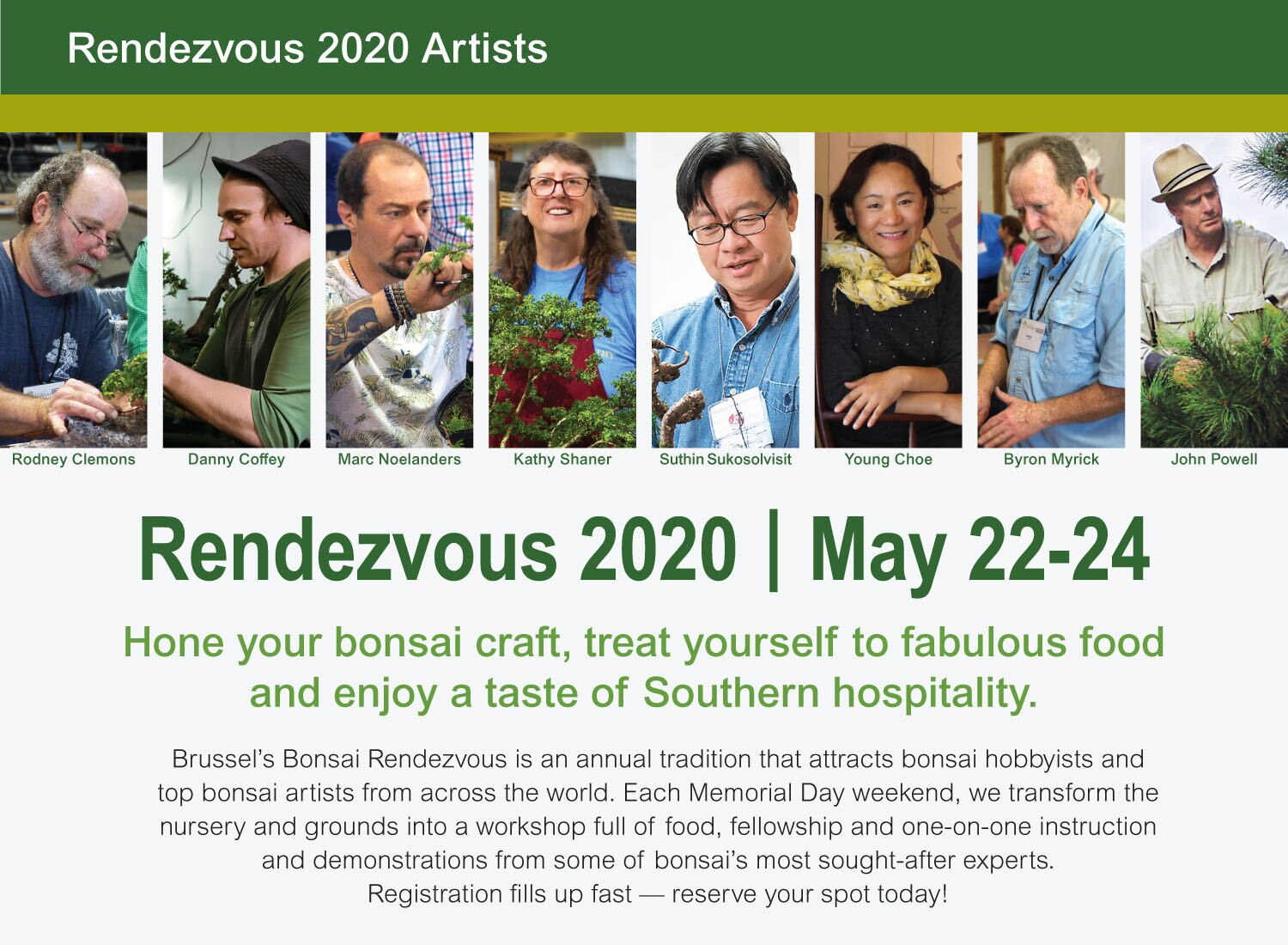 Rendezvous 2020 Artists