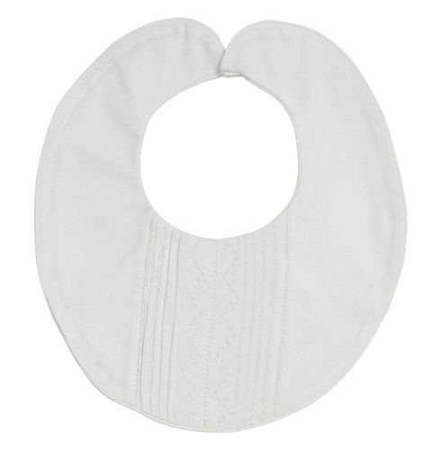 White Pintucked Bib