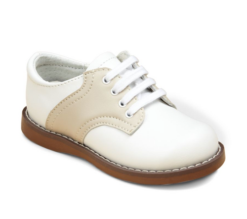 Saddle Oxford Shoes in Sand