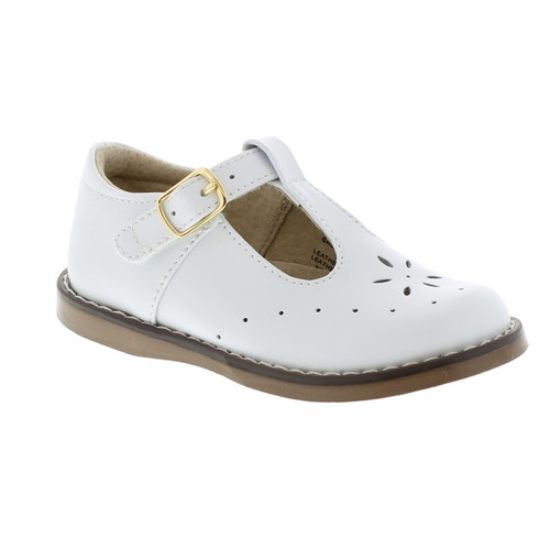 White Sherry T-Strap Dress Shoe