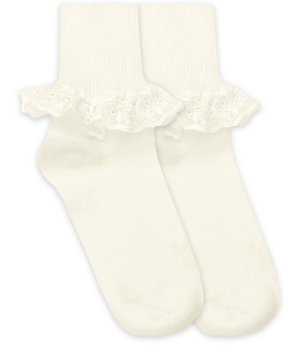 Pearl Chantilly Lace Socks