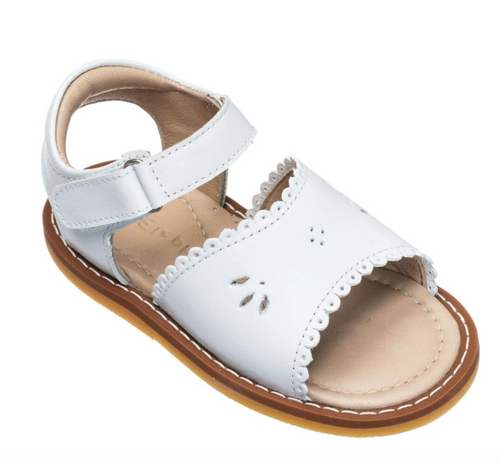 White Scallop Sandal