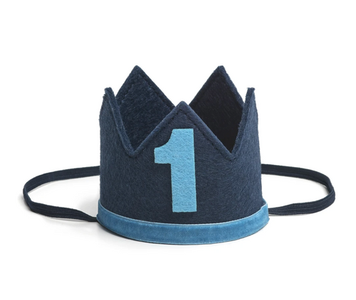 Navy/Blue #1 Boy Crown