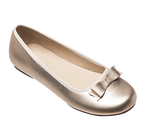 Camille Flats in Gold