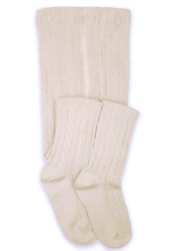 Ivory Cable Knit Tights