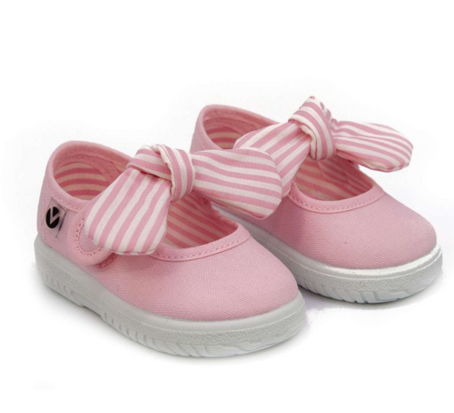 Light Pink Bow Mary Jane Sneakers