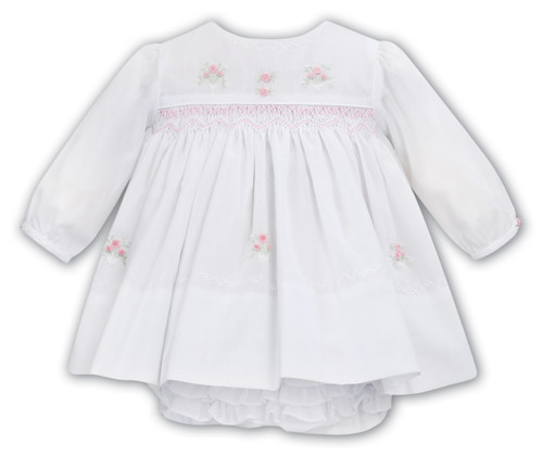 White w/ Roses Dress & Bloomer Set
