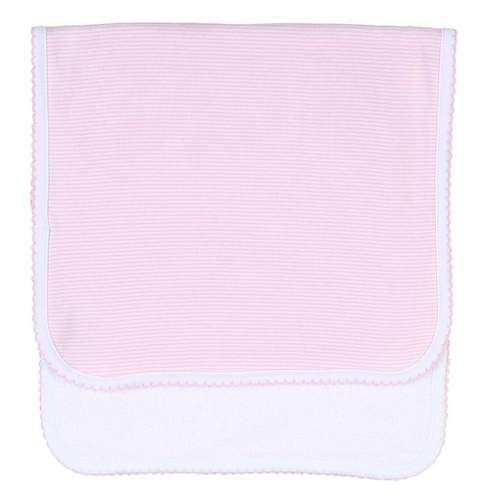 Pink Mini Stripes Burp Cloth