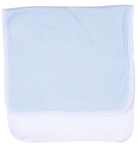 Blue Mini Stripes Burp Cloth