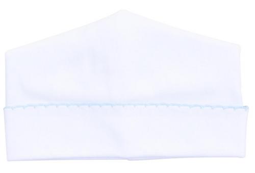 White w/ Blue Trim Hat
