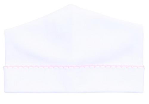 White w/ Pink Trim Hat