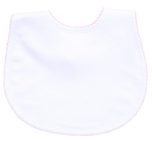 White w/ Pink Trim Bib